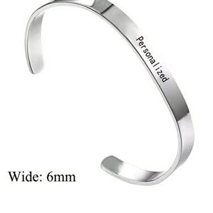 Jewelry - Any text u want! Stainless steel custom bangle